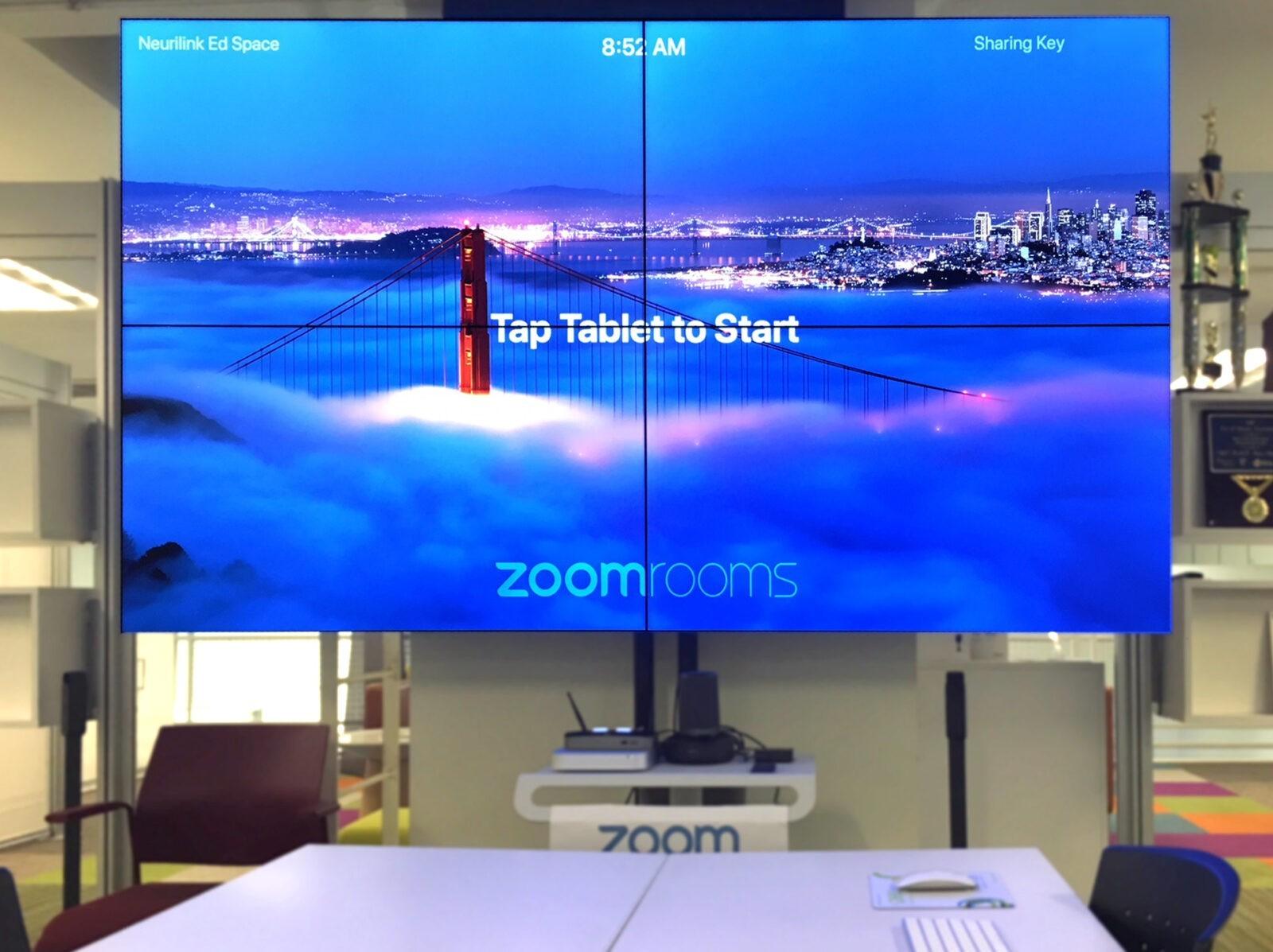 Zoom room screen