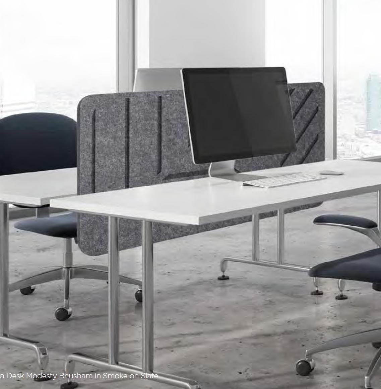 Acoustic panel desk divider