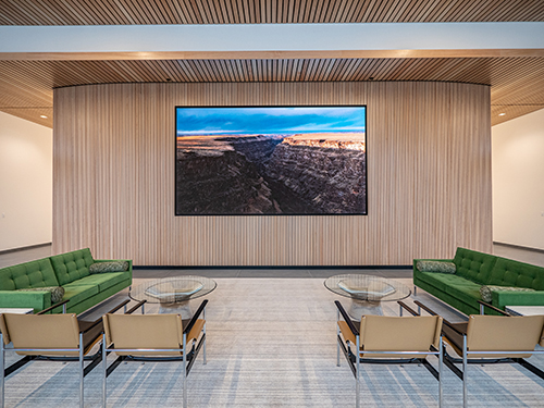 Direct View LED Wall in Lobby